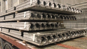 <div>2400 mm wide hollow core slabs ready for delivery</div>