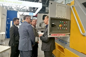 <div>Extruder Machine in dispay at Bauma, Munich</div>